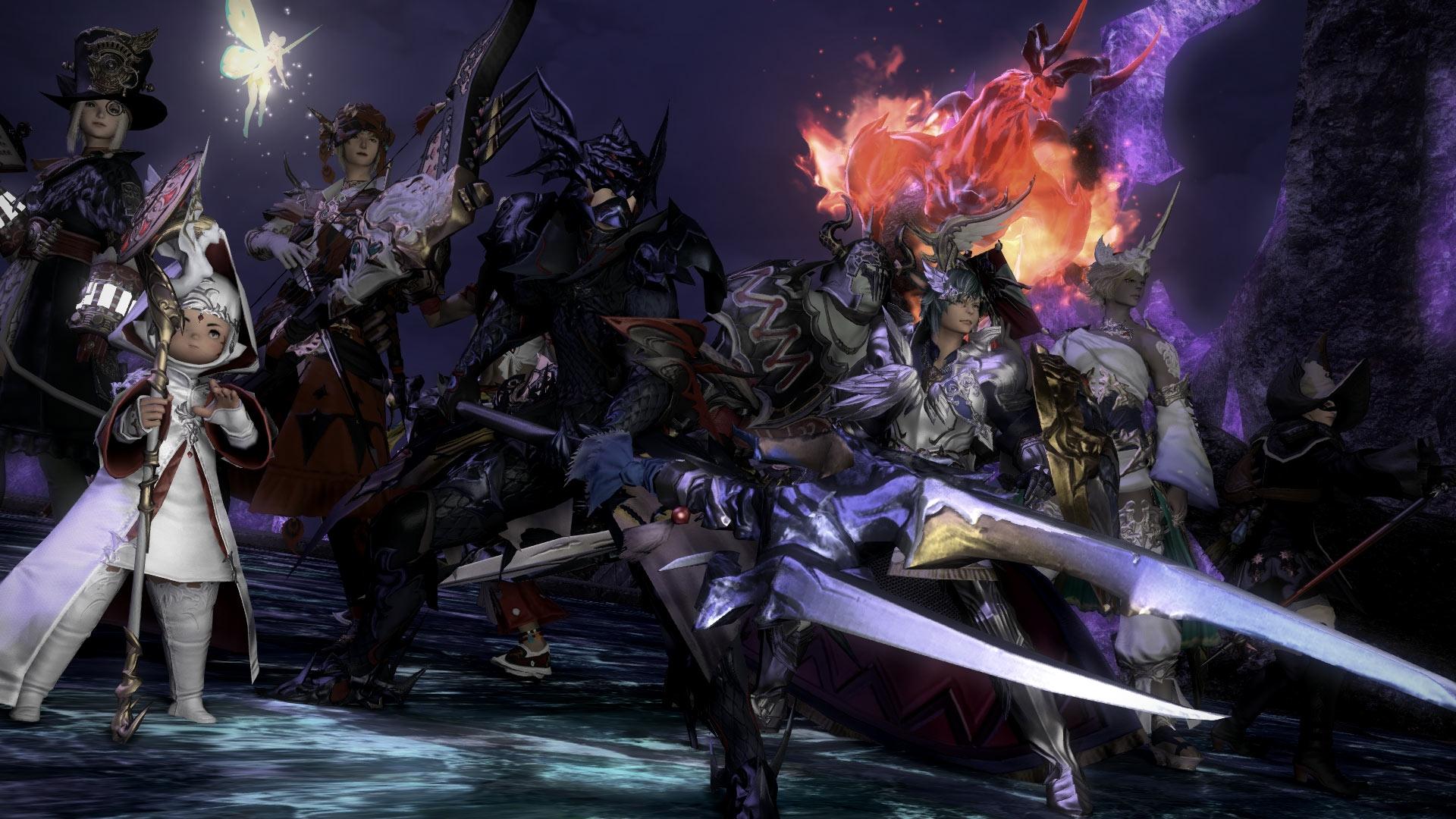 Final Fantasy XIV groupe donjon