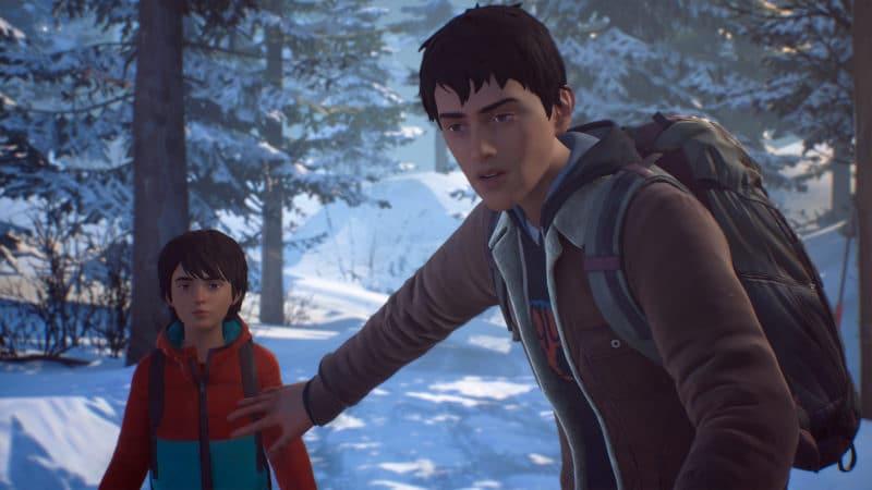 Life is Strange 2 les frères Diaz dans la neige