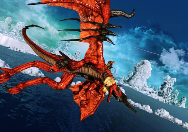 Panzer Dragoon Dragon rouge