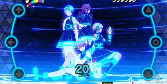 Persona Dancing 3 et 5 héroïnes de Persona