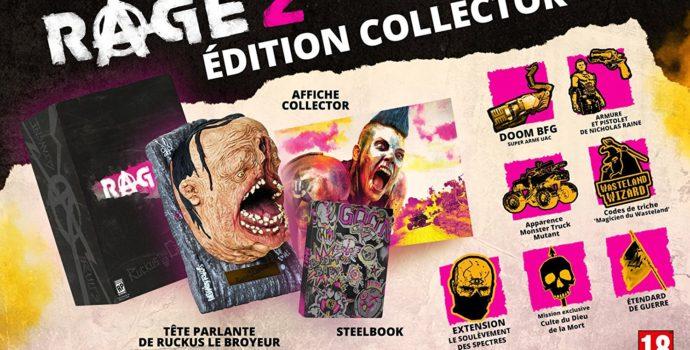 Rage 2 offre Edition Collector avec tête de Ruckus le Broyeur