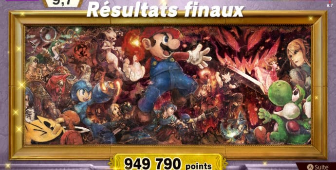 Super Smash Bros. Ultimate - Résultat du mode classique