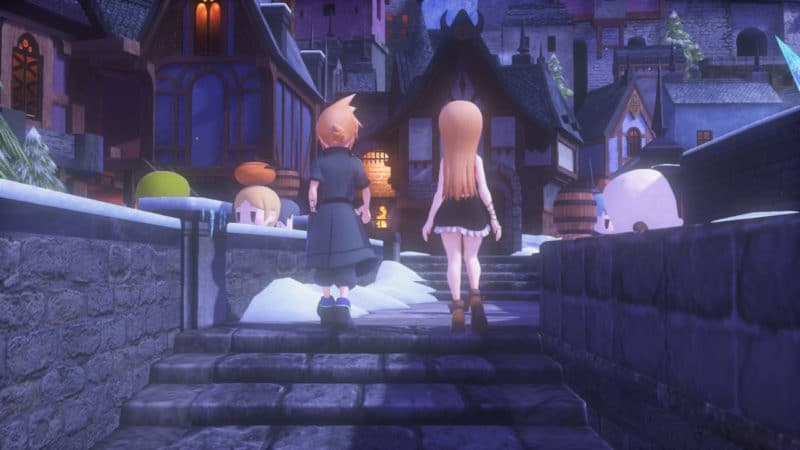 Test World of Final Fantasy Maxima - Ville enneigée