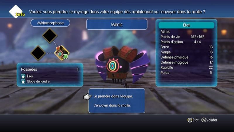 Test World of Final Fantasy Maxima - Mimic