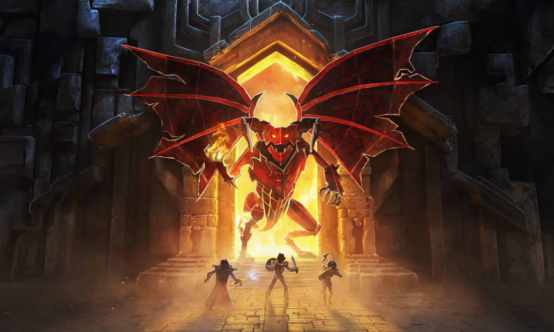 Book of demons - Trois personnages s'apprêtant à combatre un démon