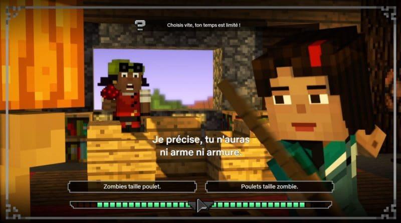 choix minecraft story mode