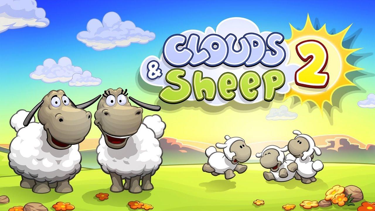 Clouds and Sheep 2 deux moutons et leurs 3 agneaux dans la prairie