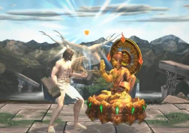 fight of gods jesus vs buddha sur switch
