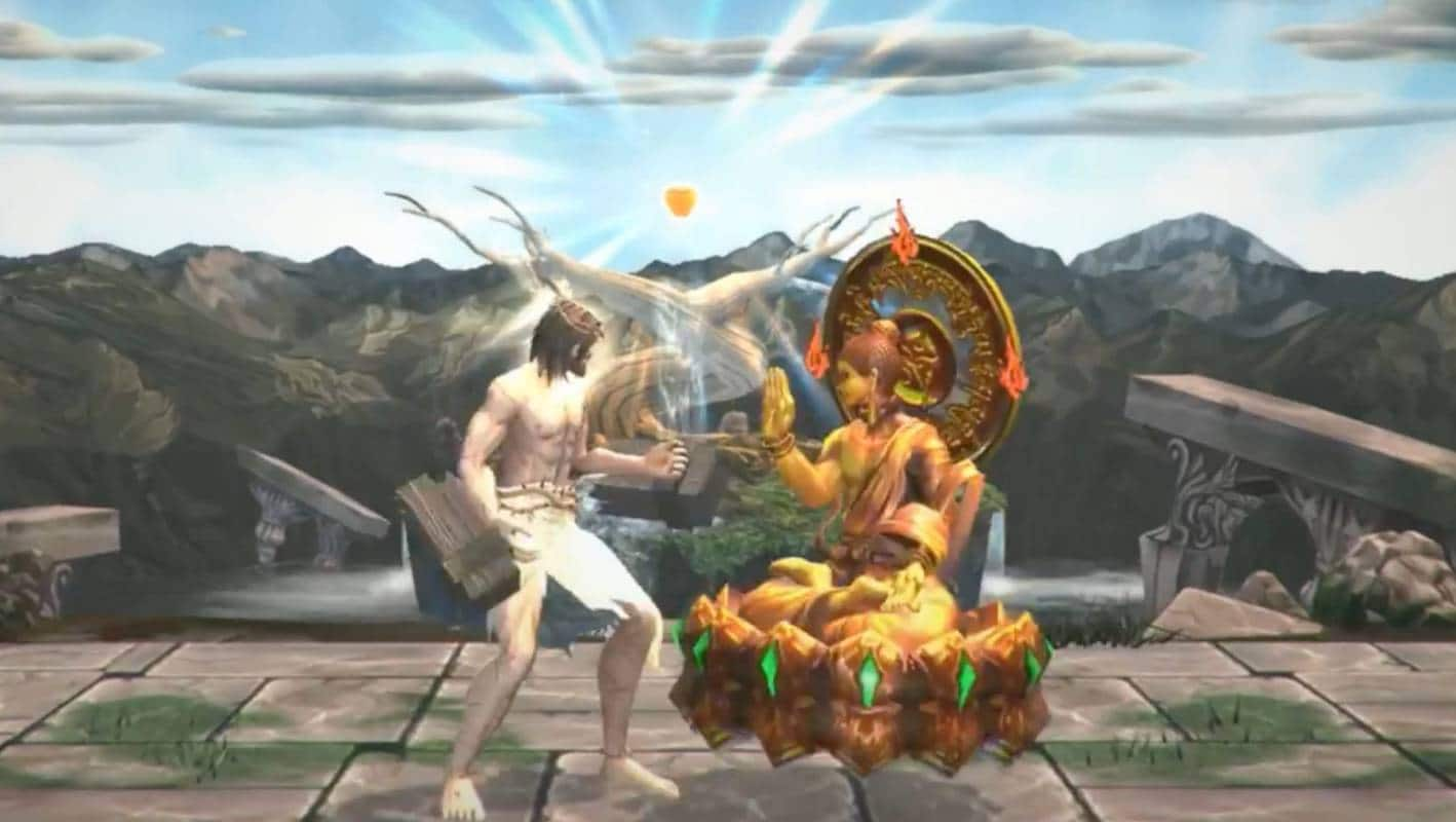 fight of gods jesus vs buddha sur switch