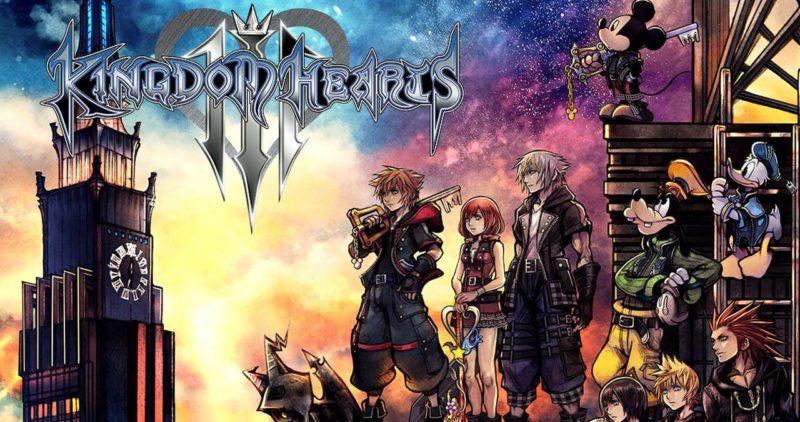 playstation 4 Kingdom Hearts 3 Sora et toute l'équipe face à une horloge