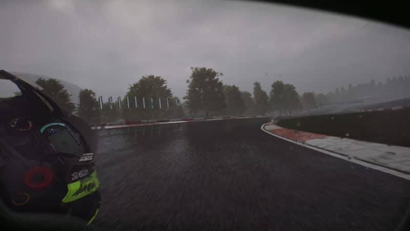 test Ride 3 - Virage sous la pluie