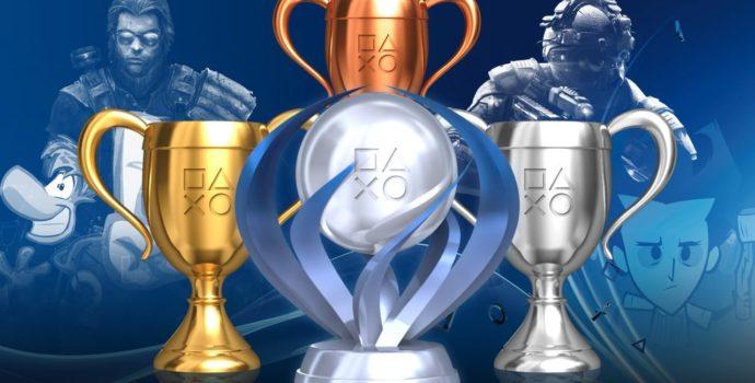 Trophée de bronze, d'argent, d'or et de platine sur PlayStation
