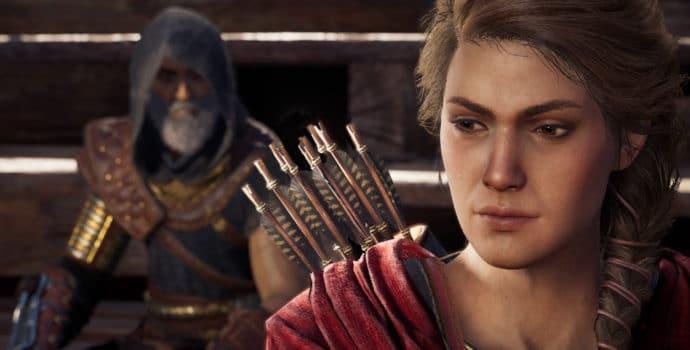 Assassin's Creed Odyssey Kassandra aux cotés de Darius