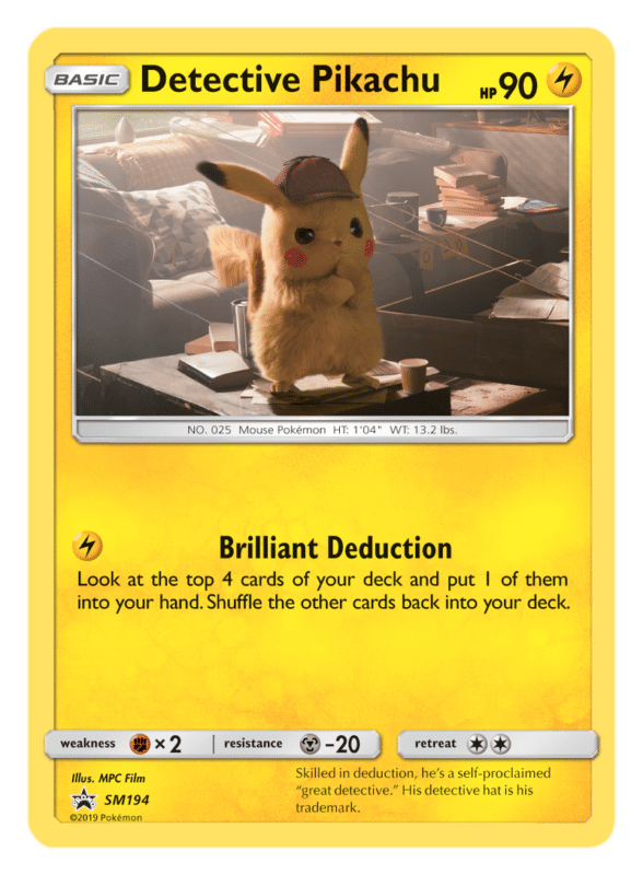 Détective Pikachu carte