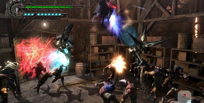 Devil May Cry 4 Nero contre les épouvantails