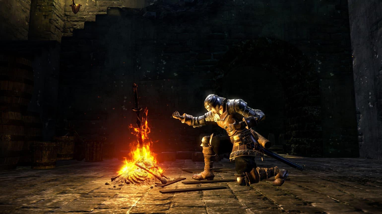 Dark Souls REMASTERED- feu de camp