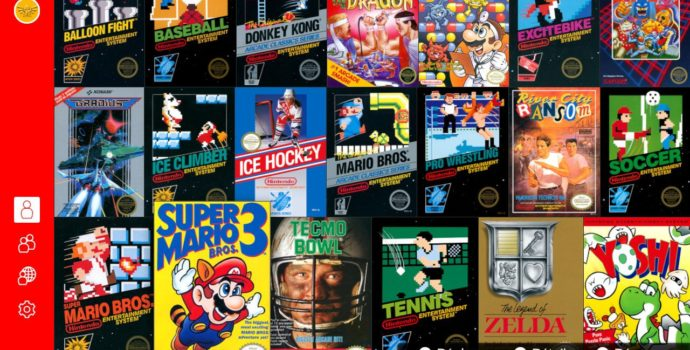 nes switch online - liste jeux