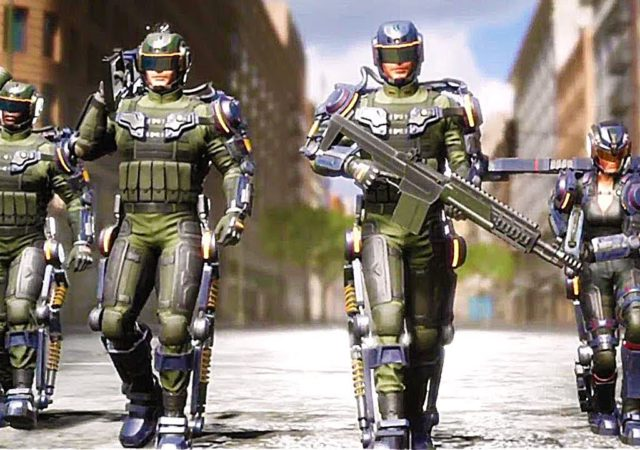 Earth Defense Force: Iron Rain soldats