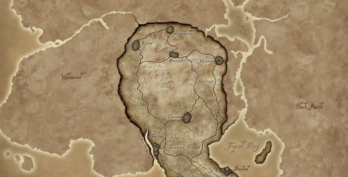 The Elder Scolls Online la carte d'Elsweyr