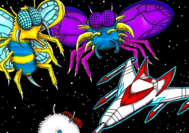 Galaga Revenge vaisseau insectes