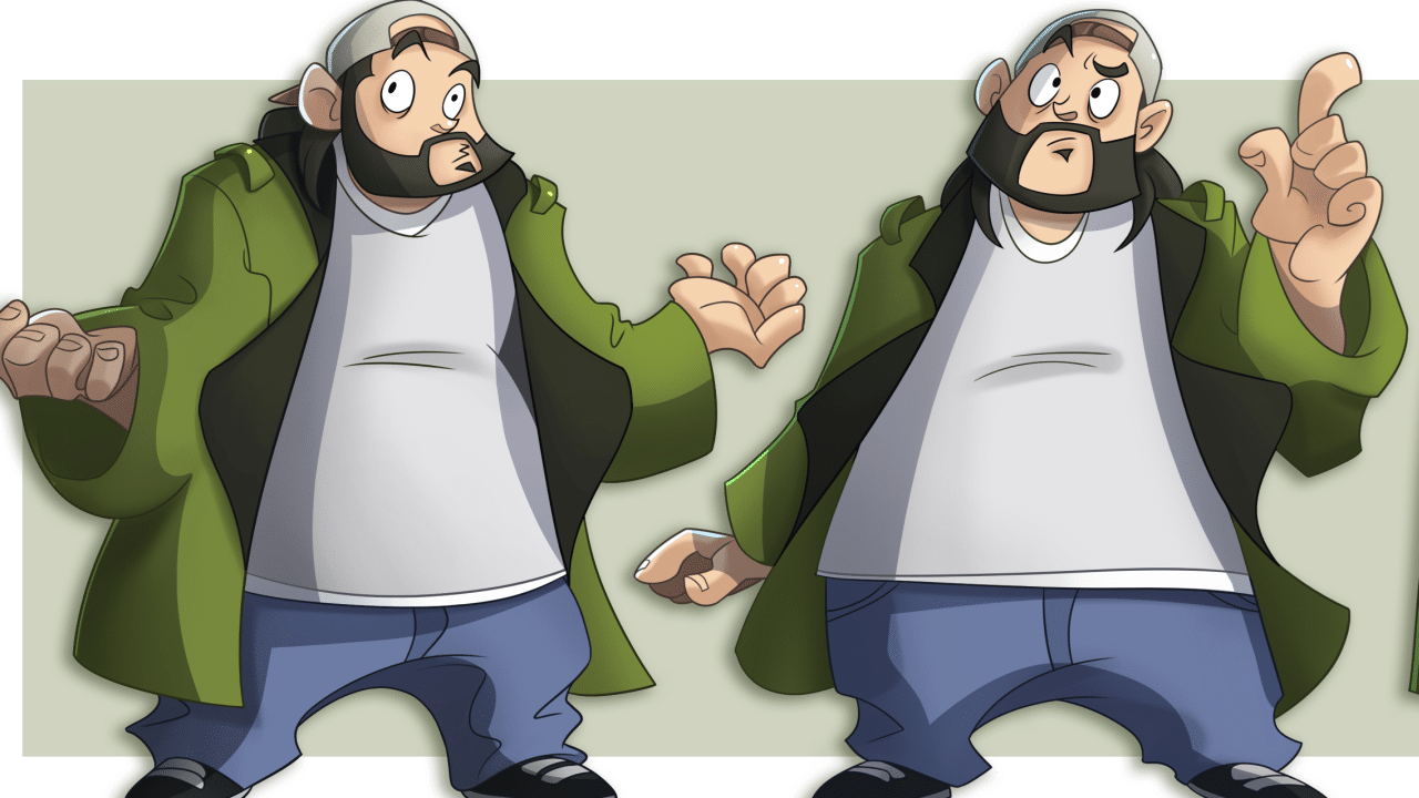 Jay & Silent Bob jeu en préparation illustration Silent Bob