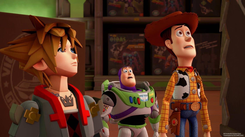 Kingdom Heart III Sora Woody et Buzz