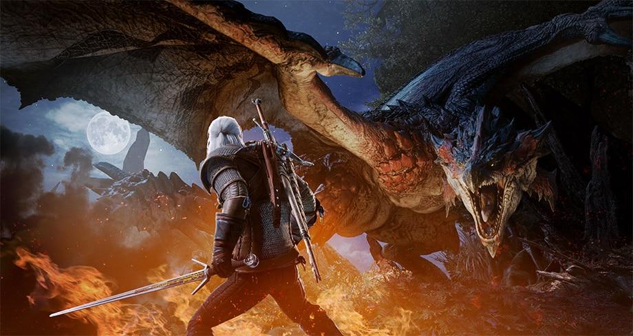 Monster Hunter: World Geralt Vs Rathalos