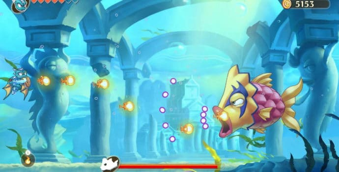Monster Boy et le Royaume Maudit poisson géant