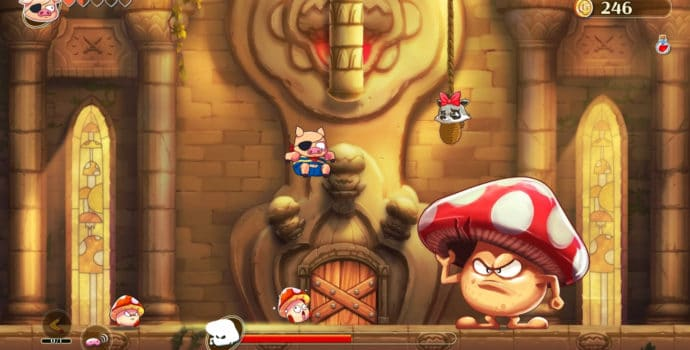 Monster Boy et le Royaume Maudit boss champignon