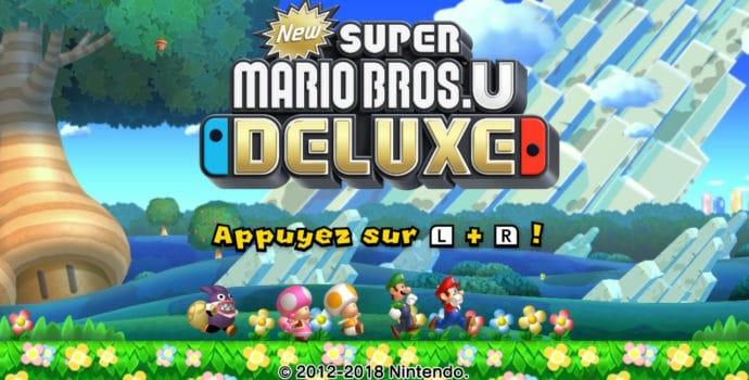 New Super Mario Bros. U Deluxe - Ecran Titre