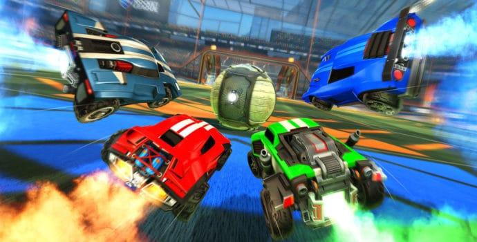 Rocket League 4 Voiture sur ballon