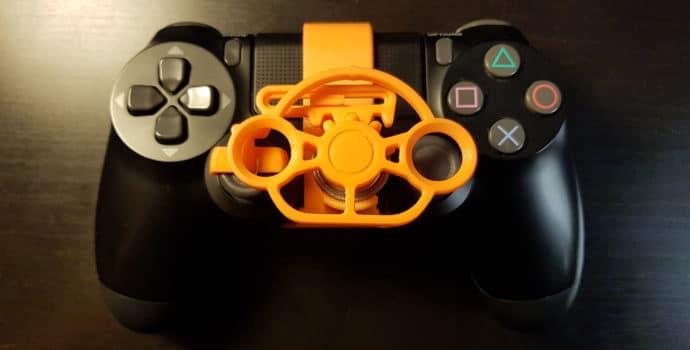 Test mini-volant PlayStation 4 - Vue rapprochée
