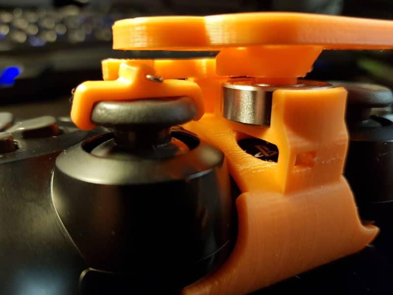 Test mini-volant PlayStation 4 - bouton PS