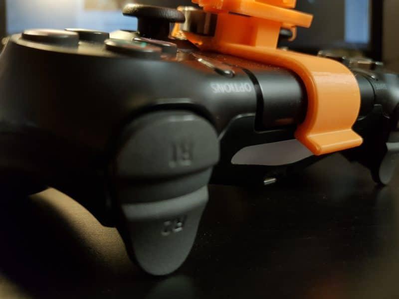 Test mini-volant PlayStation 4 - vue arrière