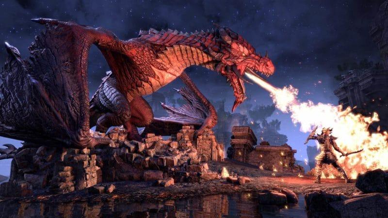 The Elder Scrolls Online : Nahviintaas le dragon impitoyable.