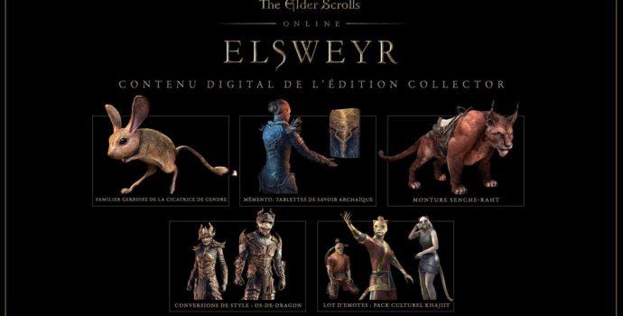 The elder Scrolls Online : contenu supplémentaire pour l'édition collector d'Elsweyr