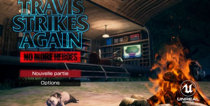 Travis Strikes Again: No More Heroes - Title Screen