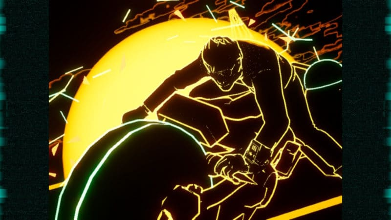 Travis Strikes Again: No More Heroes - cool Tron effect