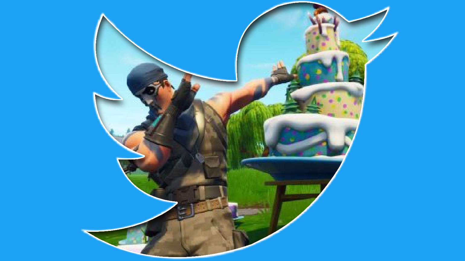 Twitter et Fortnite Logo + Floss
