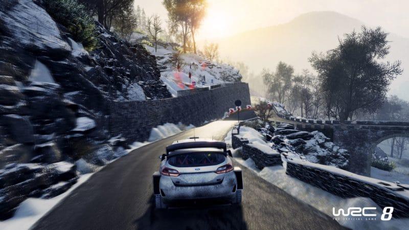 WRC 8 fiesta neige