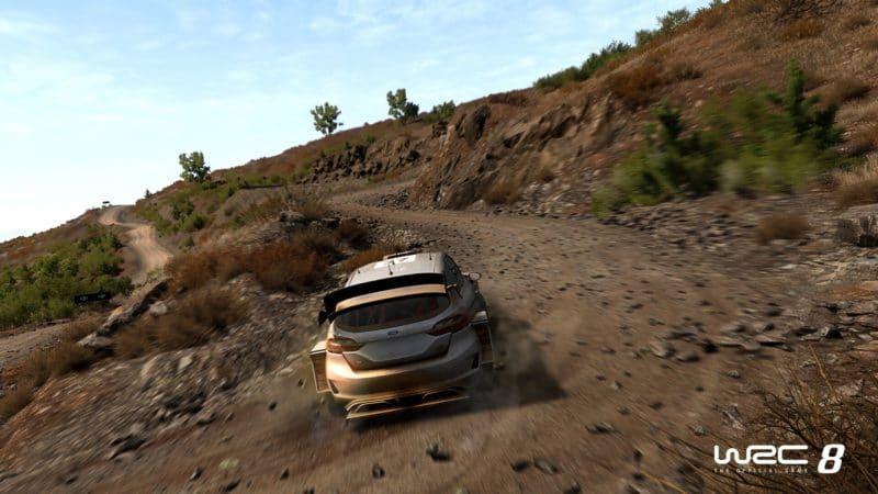 WRC 8 fiesta terre courbe