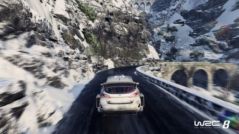 WRC 8 fiesta neige vitesse