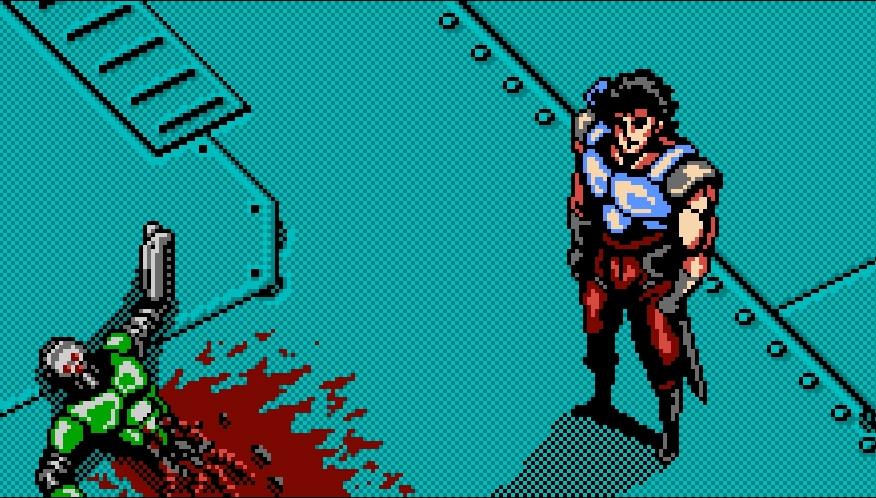 oniken screenshot zaku personnage principal