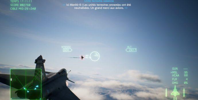 ace combat 7: skies unknown test au dessus des nuages