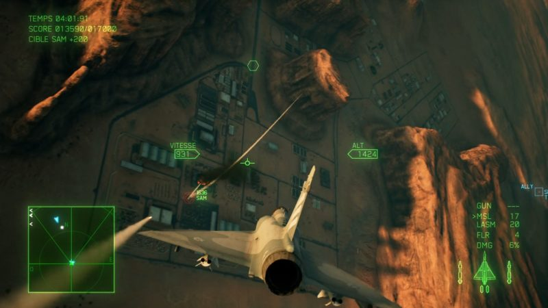 ace combat 7: skies unknown test cible sol