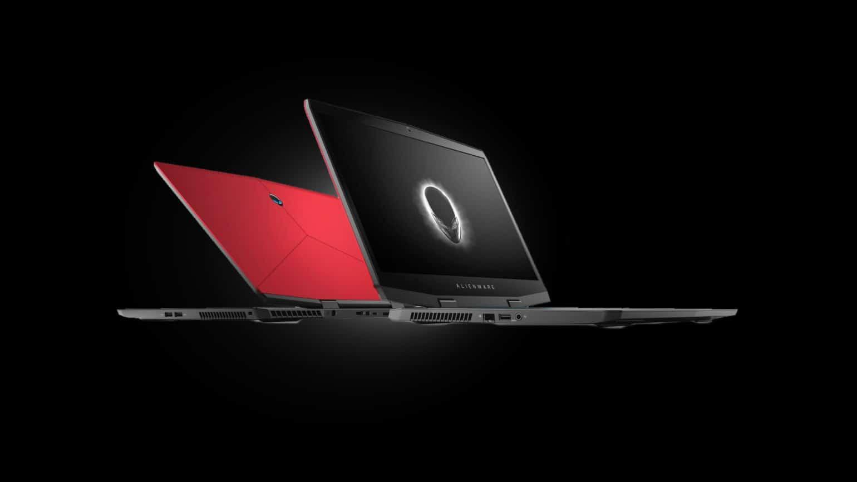 alienware m17 - front modèles rouge argent