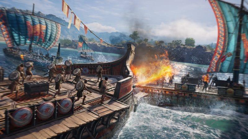assassin's creed odyssey l'héritage de l'ombre bataille navale