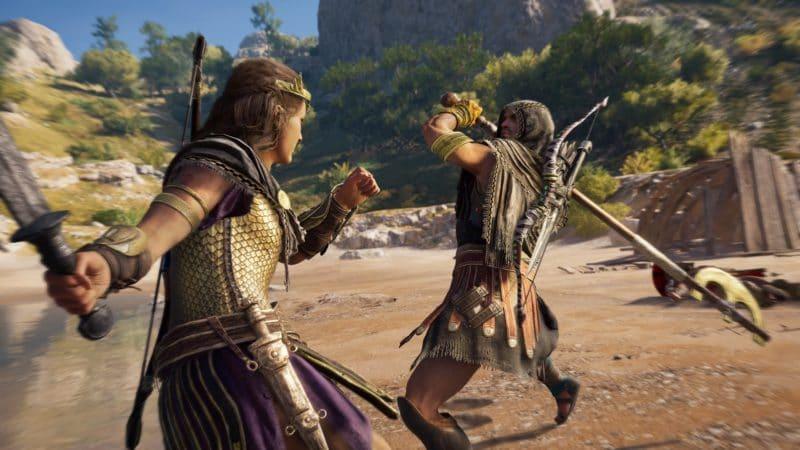 assassin's creed odyssey l'héritage de l'ombre Alexios combat