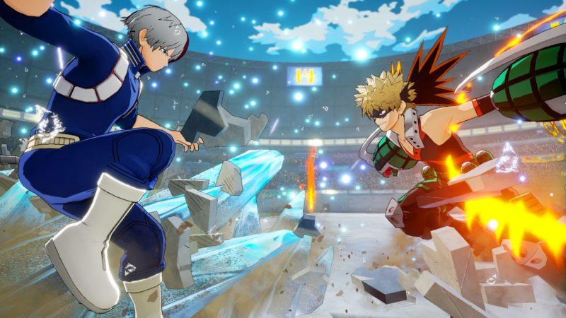 my hero one's justice katsuki vs shoto