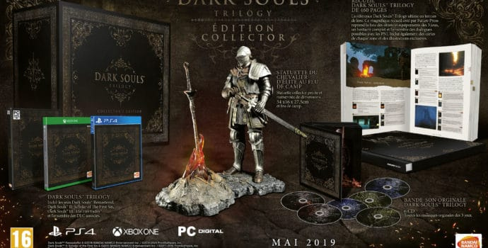 L'édition collector du jeu Dark Souls Trilogy